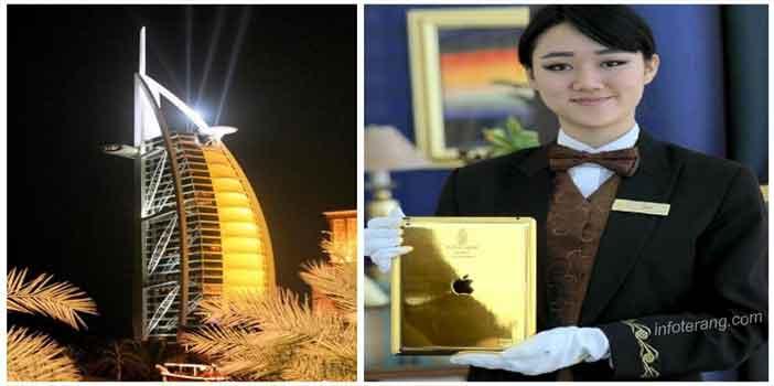 Ipad berlapis emas untuk penghuni hotel