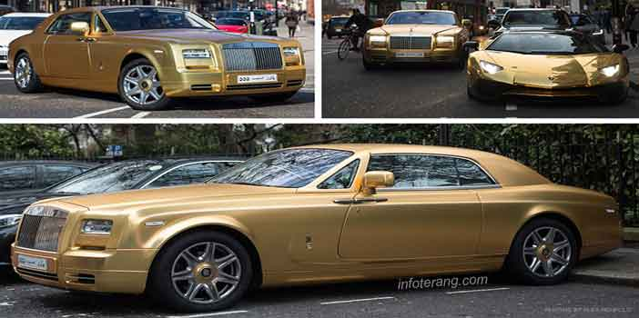 Mobil berlapis emas