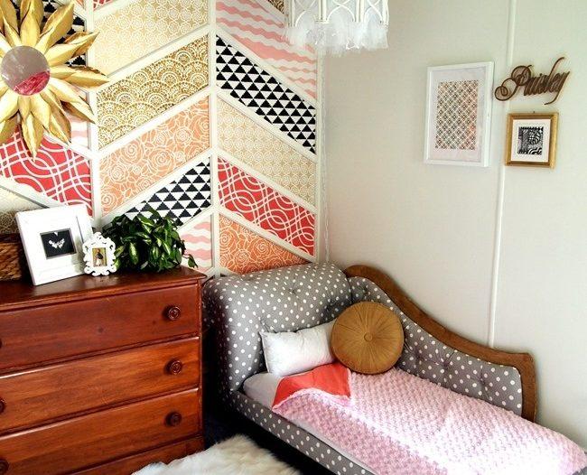 mendekorasi dinding warna-warni