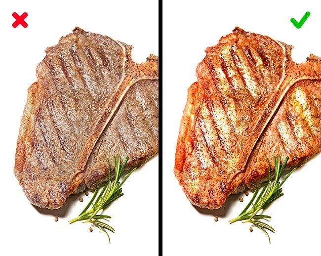 masak daging steak saat ber suhu kamar