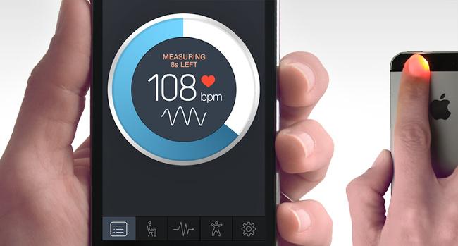 rubah handphone menjadi pengukur detak jantung