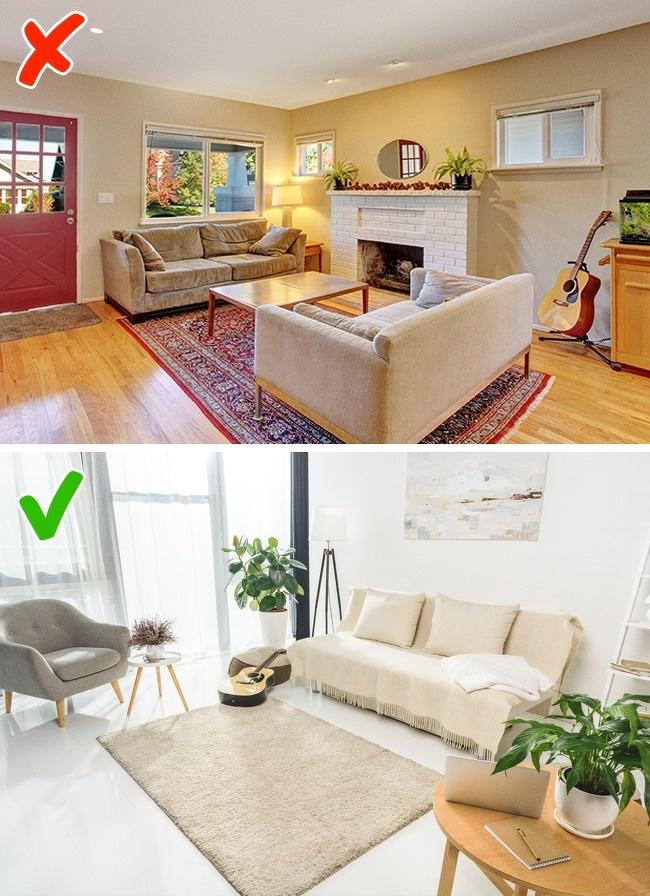 ruangan dengan karpet minimalis