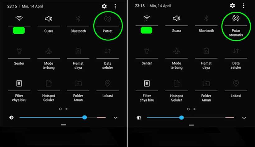 fungsi putar layar otomatis - Cara baterai hp tidak cepat habis