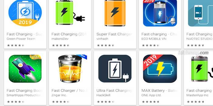 Aplikasi Baterai Pengisian Cepat