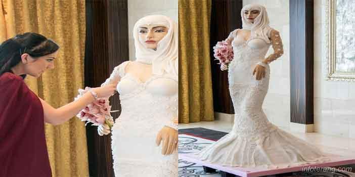 Kue Pengantin raksasa, asli seperti pengantinnya