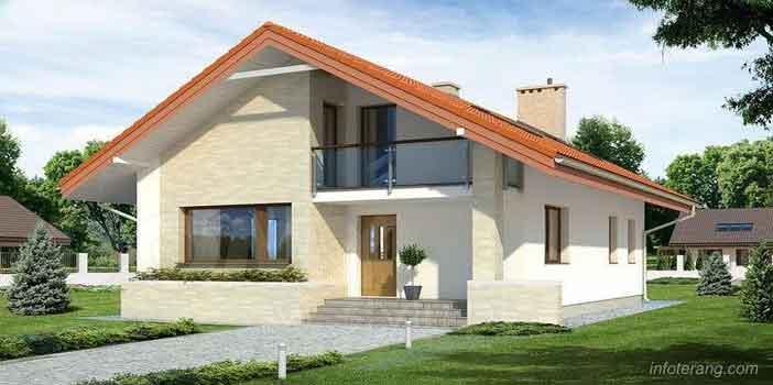 Desain Rumah Minimalis Dua Lantai (Loteng) Terbaru