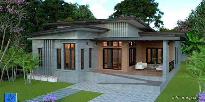 Desain Rumah Modern Desain Atap Bertingkat